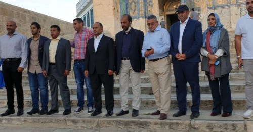 Delegation from the Emirates visits Al Aqsa mosque under Israeli protection