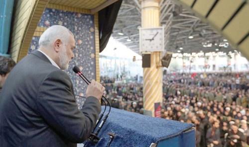Ismail Haniyeh du Hamas a défié les autorités égyptiennes et a prononcé un éloge funèbre pour le général Qasem Soleimani à Téhéran