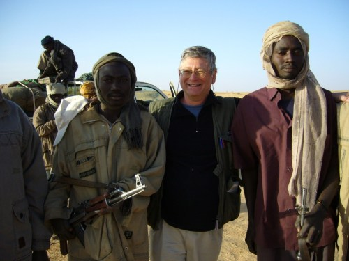Richard Rossin au Darfour avec des membres MLS