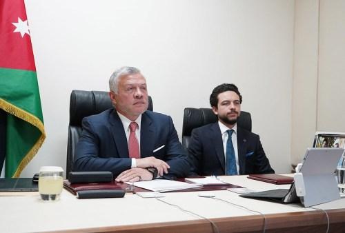 King Abdullah II, with HRH Crown Prince Al Hussein