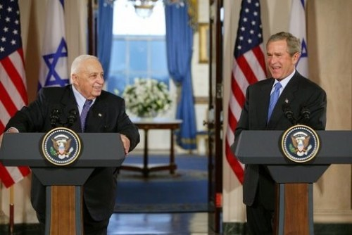 George W. Bush, Ariel Sharon, 2004