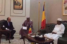 השגריר גולד נפגש עם נשיא צ'אד
