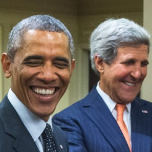 Barak Obama and John Kerry