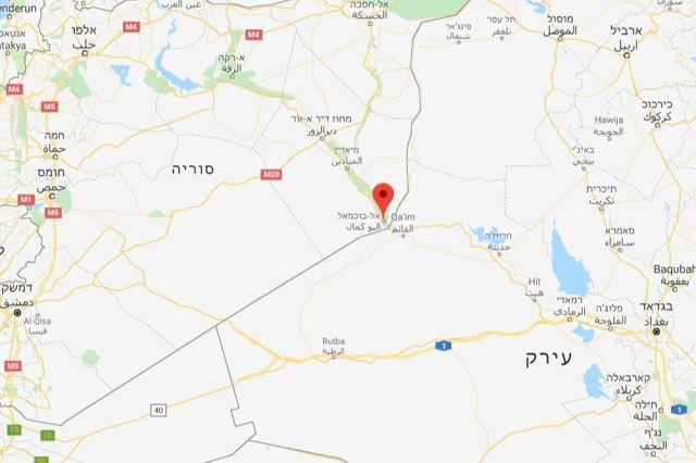 אלבוכמאל בגבול עיראק סוריה נקודה חשובה לאיראן לצורך יצירת הגשר היבשתי