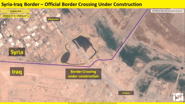 ההתבססות האיראנית באזור אזור מעבר הגבול באלבוכמאל // מקור: המרכז למורשת מודיעין