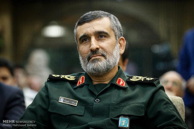 הגנרל אמיר עלי חג'ידה, מפקד סוכנות החלל האיראנית.