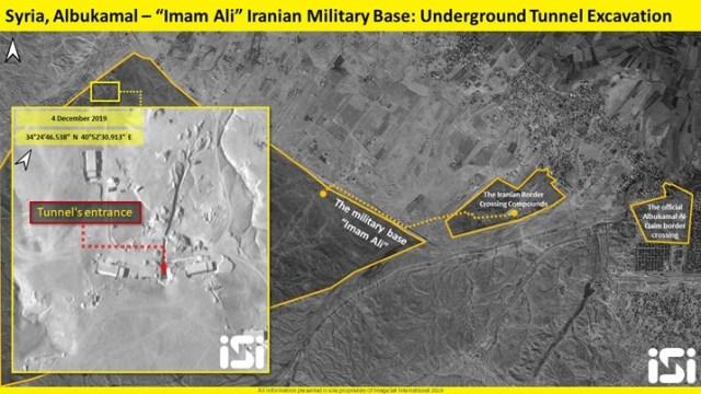 הכניסה למנהרה מבסיס אימאם-עלי. צילום: ImageSat International - ISI