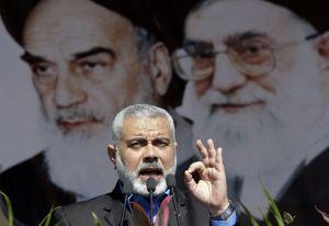 פגישת מנהיג איראן ומנהיג חמאס הנייה