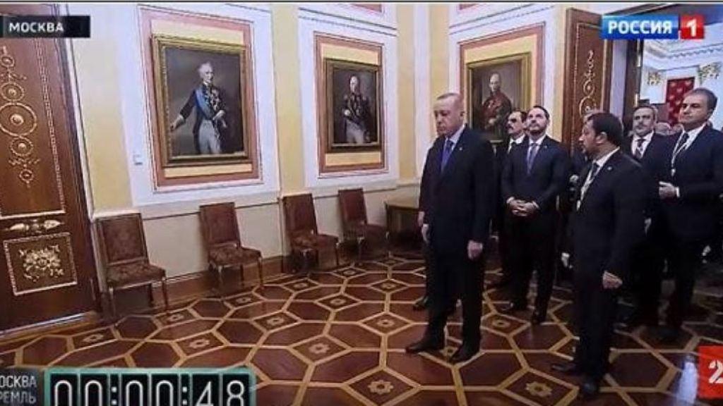 קבלת פנים קרה ביותר לארדואן במוסקבה