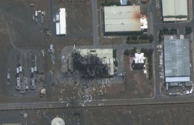 הכור בנתנז לאחר הפיצוץ