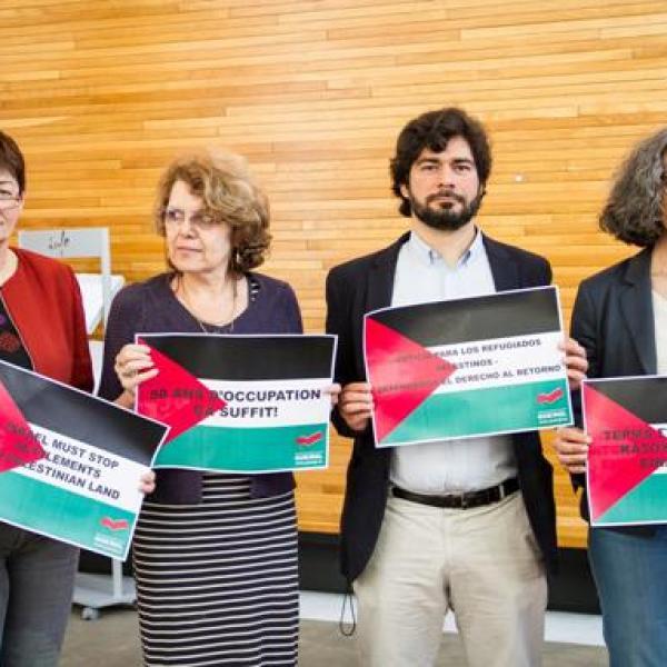 הקשר בין פעילי שמאל ישראלים לפרלמנטרים אירופים