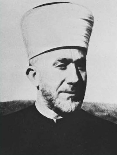 """The mufti, Haj Amin al-Husseini, father of the """"Al-Aksa is in danger"""" libel. (Government Press Office)"""