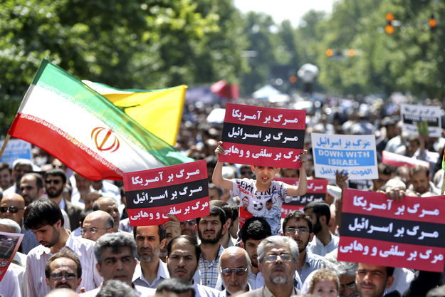 """""""The day will come when the Islamic people in the region will destroy Israel and save the world from this Zionist base."""""""