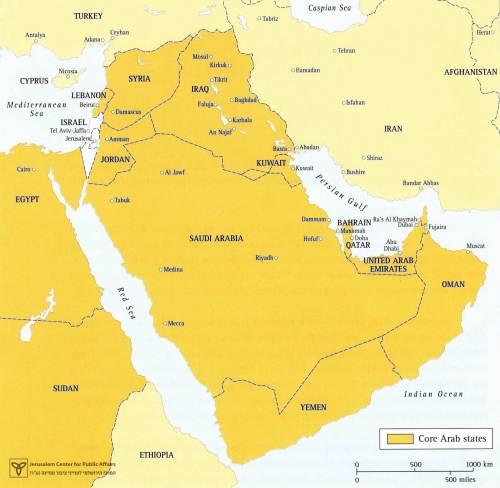 Map 1 – Israel and the Middle East