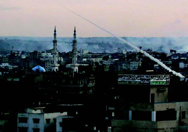 Missile launch from Gaza