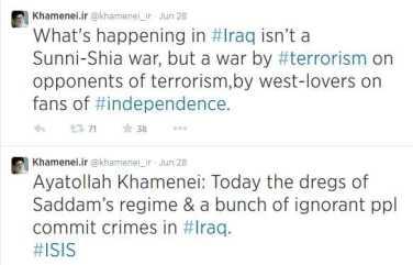 Iran Tweet ISIS