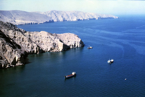 The Strait of Hormuz. (AP Photo/Bill Foley)
