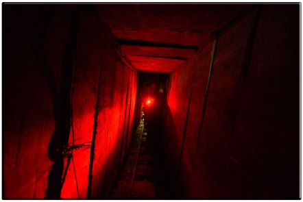 A Hamas terror tunnel in Gaza which the IDF uncovered