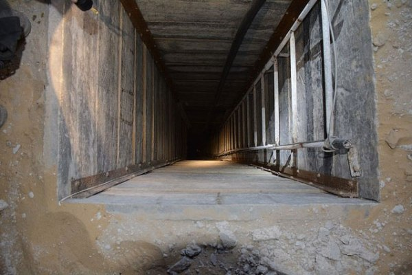 Hamas terror tunnel in Gaza, July 20, 2014