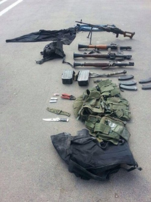Weapons found after Hamas terrorists infiltrated Israel on July 19, 2014. (IDF/Twitter)