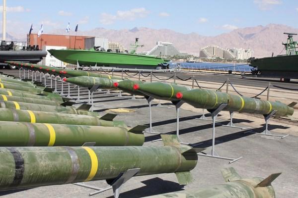 Long-range M-302 rockets on board the Klos-C ship intercepted by Israel on March 5, 2014. (IDF/Flickr)