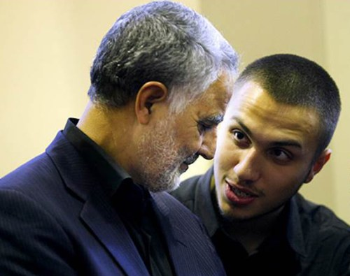 Jihad Mughniyeh with Qasem Soleimani (left), Commander of the Quds Force of the Islamic Revolutionary Guards Corps (IRGC) - The Attack in the Golan Exposes Iran's Growing Presence along Israel's Borders