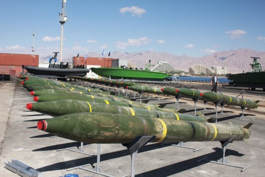On March 5, 2014 an Israeli Navy task force seized the Iranian-owned merchant vessel Klos-C that had set sail from Iran, heading for Port Sudan via Iraq.  On board, the commandos found long-range missiles concealed in containers full of Iranian bags marked as Portland cement. (Photo credit: IDF Spokesman)