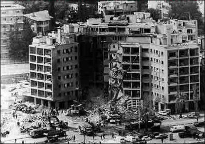 U.S. Embassy in Beirut.  The attack constituted the deadliest terror attack on Americans outside of U.S. soil.
