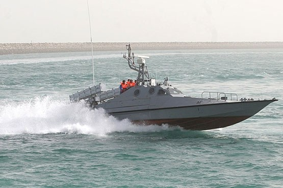 An Iranian fastboat, the type harassing Western shipping in the Gulf
