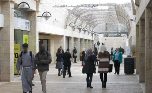 The Mamilla Promenade – a common space for Jewish and Arab commerce. (Photograph: Ariel Shragai)