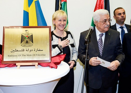 Margot Wallström and Mahmoud Abbas