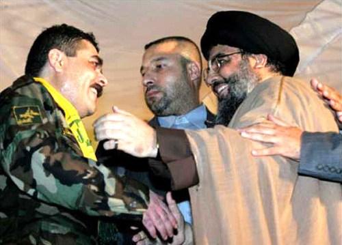 Kuntar received by Hizbullah's Nasrallah