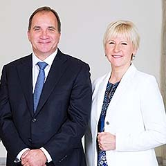 Prime Minister Stefan Löfven with Margot Wallström, Minister for Foreign Affairs