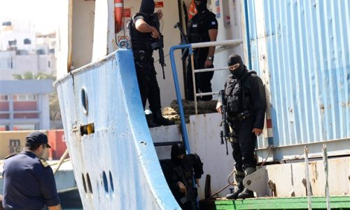 Six containers of illegal arms detained in Greece