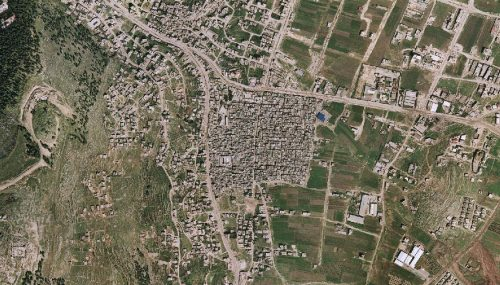 Aerial view of Balata Refugee Camp