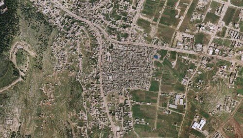 Aerial view of Balata Refugee Camp