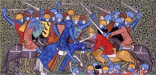 Charles Martel defeats the Umayyads in the battle of Tours in 732
