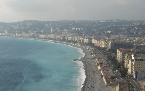 Promenade des Anglais, the site of the truck attack, in Nice, France.