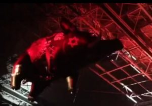 Roger Waters' flying concert pig with the Star of David (Screenshot: YouTube)