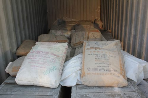 Iranian cement intercepted by Israel on their way to Hamas in 2014.