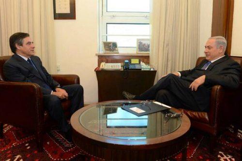 François Fillon meeting Prime Minister Benjamin Netanyahu in Jerusalem in 2014