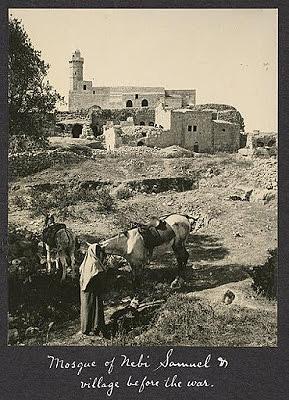 The Nebi Samuel shrine before the battle, 1917