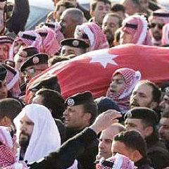 Funeral of Jordanian security officer after the Karak attack