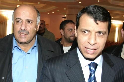 Jibril Rajoub (left) and Mohammed Dahlan