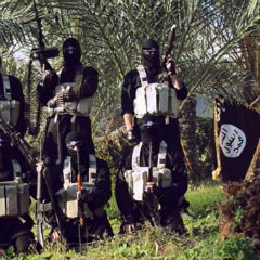 ISIS fighters purported to be in Gaza.