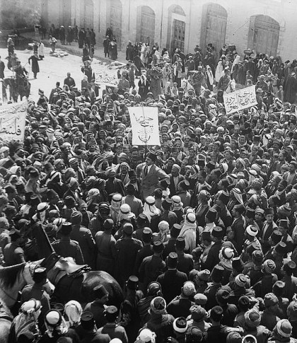 Anti-Zionist demonstration in Jerusalem 1920