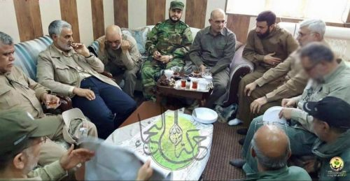 Soleimani with leaders of the Iraqi Harakat Al-Nujaba.