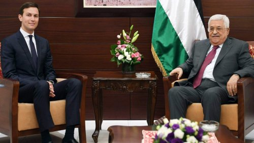 Jared Kushner with President Mahmoud Abbas