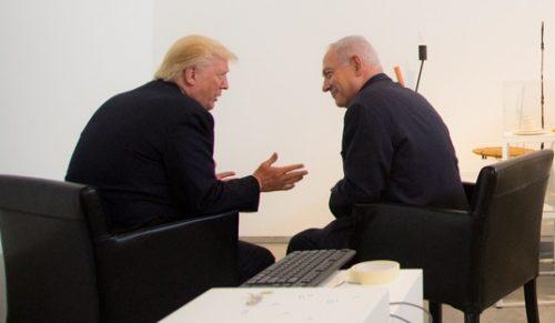 President Trump with Israeli Prime Minister Benjamin Netanyahu