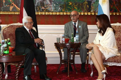 Palestinian President Abbas Meets With Cristina Kirchner